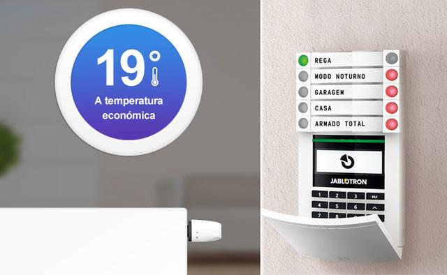 Controlo do aquecimento