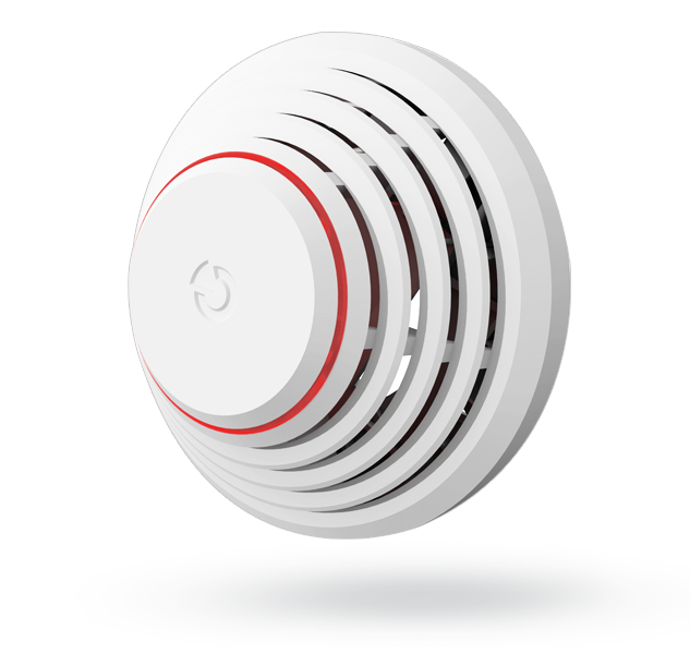 Wireless fire and temperature detector