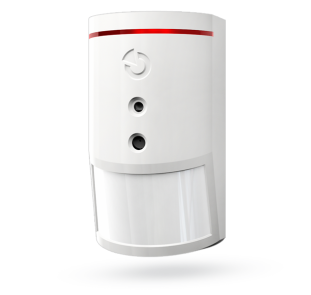 Wireless PIR motion detector combined with a camera