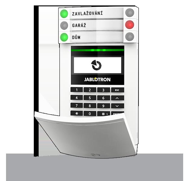 Bezdrátový přístupový modul s displejem, klávesnicí a RFID