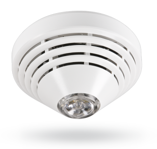 Wireless optical smoke and heat detector for the JA-100 system