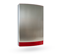 Stainless cover for sirens JA-111A, JA-151A, red flasher