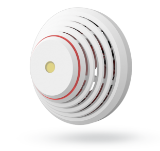 Wired combined smoke and heat detector with built in siren