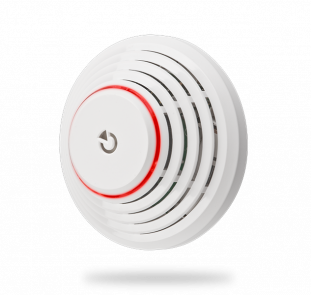 Wireless combined smoke and heat detector with built-in siren