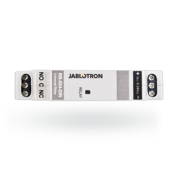 Universal power relay for DIN rail