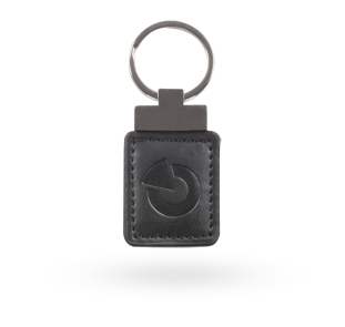 RFID leather tag - black