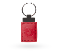 RFID leather tag - red