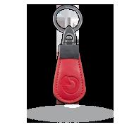 RFID kožený přívěsek - červený