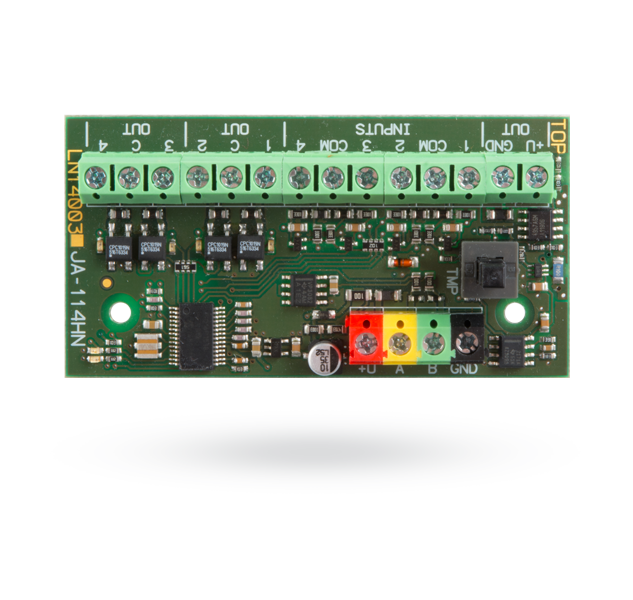 Bus four-input and four-output module