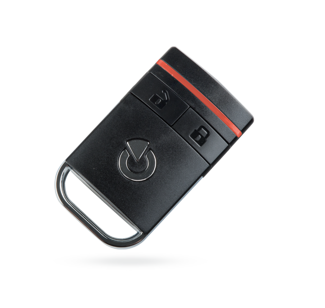 Bi-directional two-button keyfob