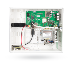 Control panel with built-in LAN communicator and radio module