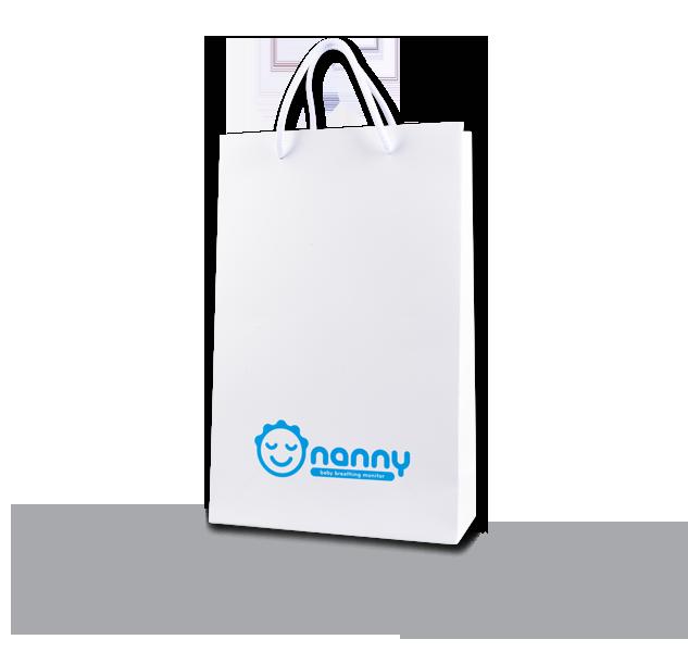 PI-PAPBAG-NANNY Papírová taška s logem Nanny