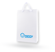 Paper bag with Nanny logo