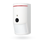 Sběrnicový PIR detektor pohybu s foto verifikační kamerou 90°