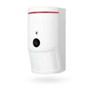Bus PIR motion detector with 90° photo-verification camera