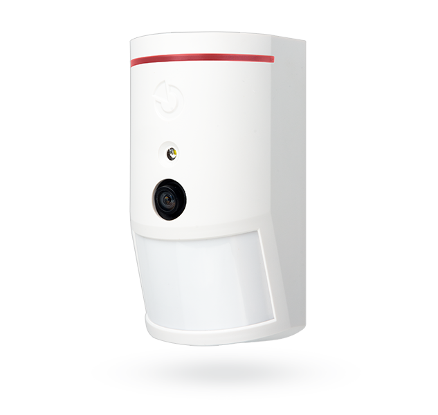 Wireless PIR motion detector with 90° photo-verification camera
