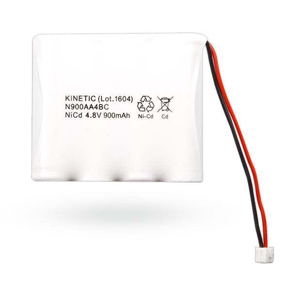 NiCd battery 4.8 V/900 mAh