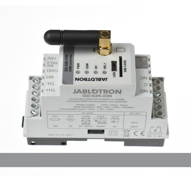 GD-02K-DIN Univerzální GSM komunikátor a ovladač