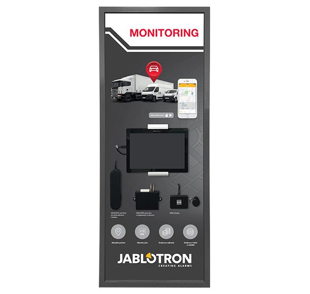 PI-PANEL-CARM-S-C Malý funkční demonstrační panel CAR MONITORING s tabletem.