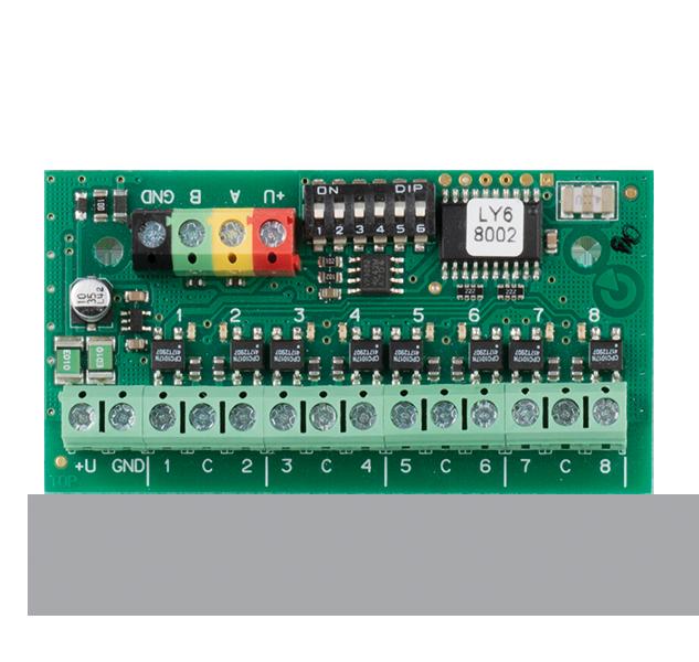 JB-118N Sběrnicový signální modul výstupů PG, 8 výstupů