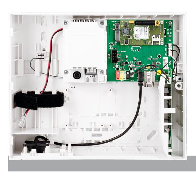 Ústředna s LAN, GSM a rádiovým modulem