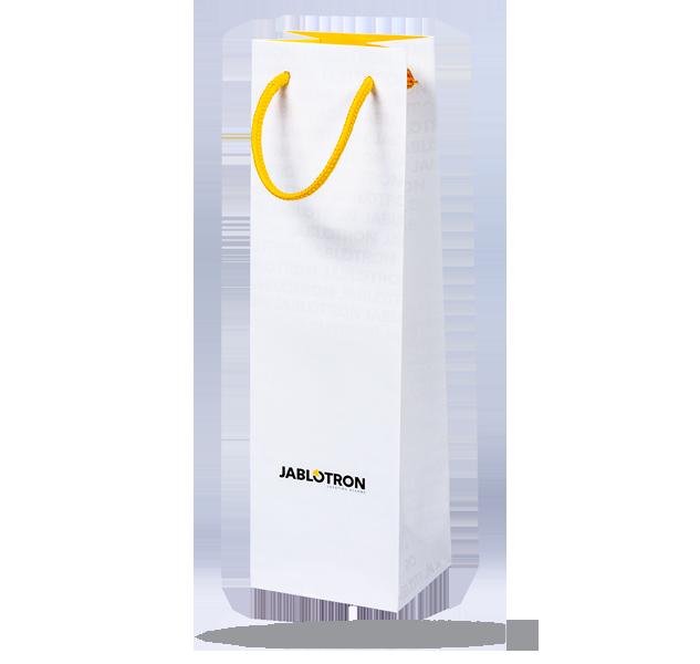 PI-PAPBAG-WINE Papírová taška na víno s logem JA