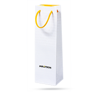 Wine bottle paper bag with JA logo