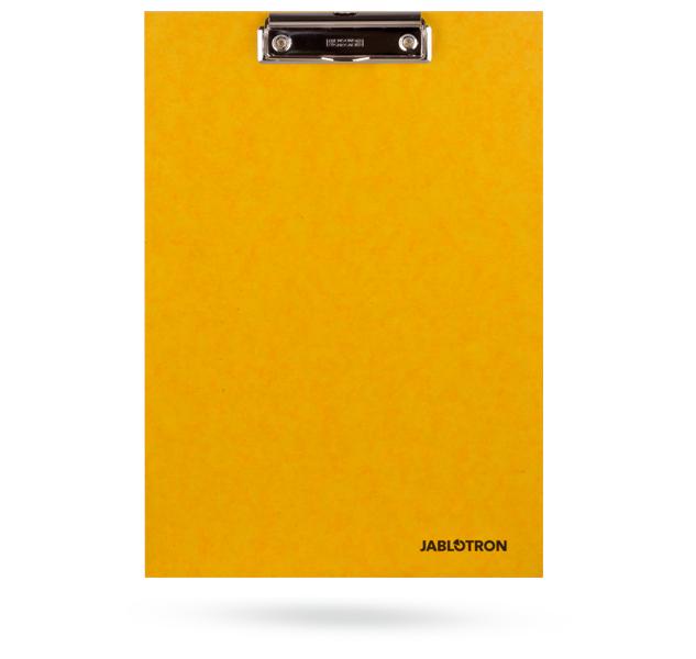 PP-CLIPBOARD-Y Desky s klipem s logem JABLOTRON - žluté