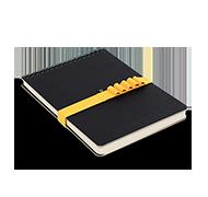 Zápisník s fotografiemi produktů s logem