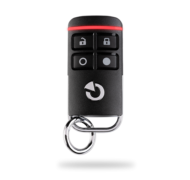 Bi-directional four-button keyfob