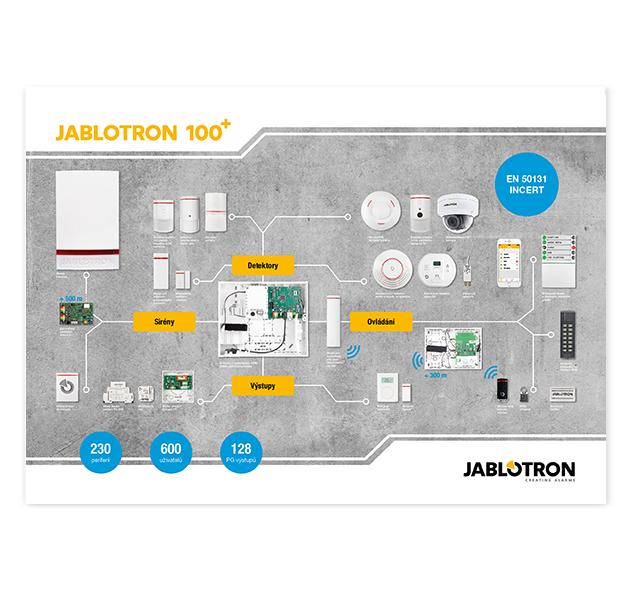 PI-CZ+POSTER Prezentační plakát JABLOTRON 100+ - CZ verze