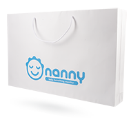 Paper bag for BM-02 with Nanny logo