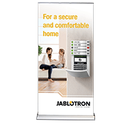 Roll-up Comfortable and secure home (partner logo)