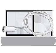 Kontakt magnetický závrtný N.C. kabel